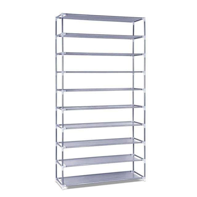 10 Tiers Stackable Shoe Storage Rack-160cm