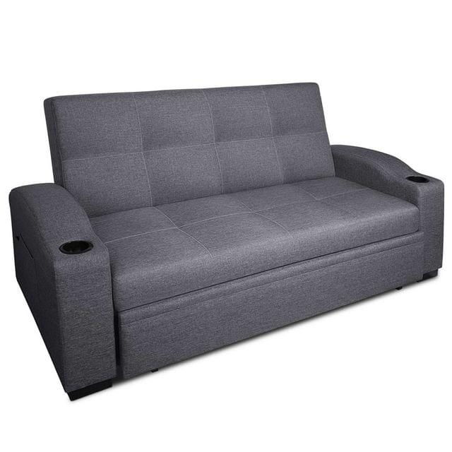 3 Seater Pull Out Sofa Bed - Grey