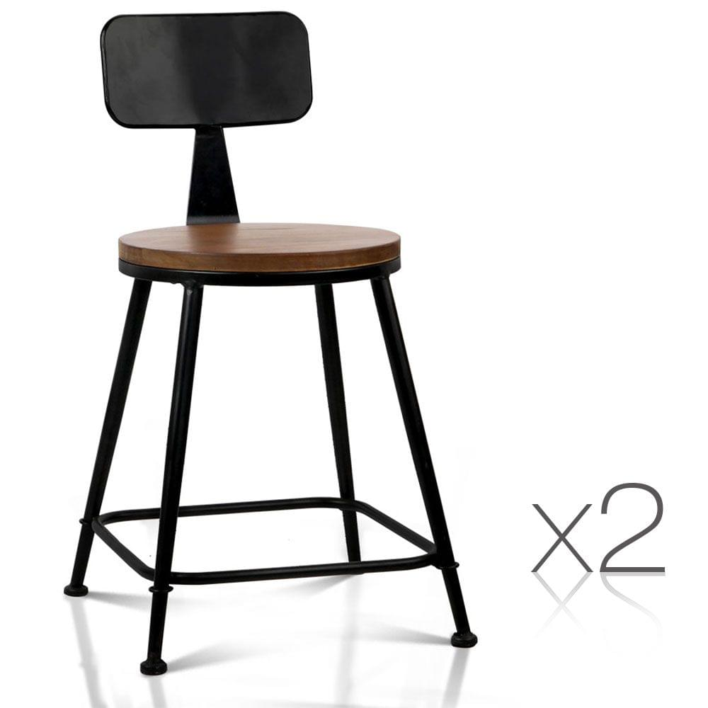 Industrial Dining Chairs Dark Brown and Black