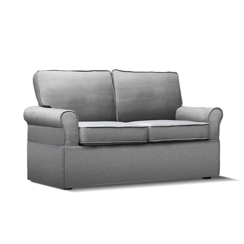 2-seater Fabric Sofa Bed Grey