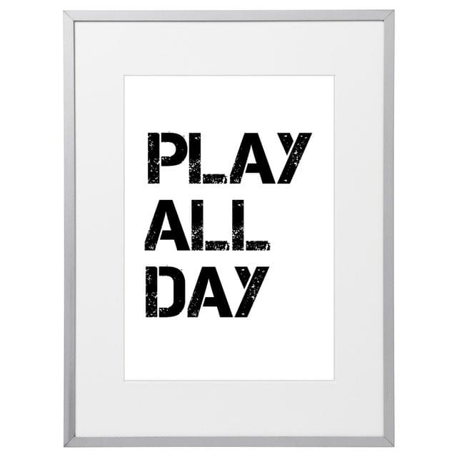 Play All Day Kids (210 x 297mm, White Frame)