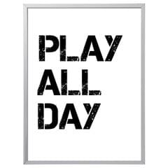 Play All Day Kids (297 x 420mm, White Frame)