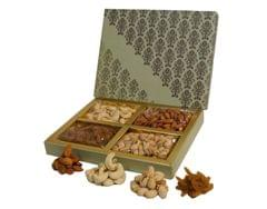 VSD Luxury Diwali Special Dry Fruits 4 section Gift Box 400 gm