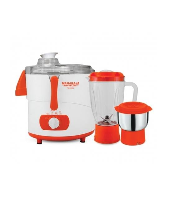 Maharaja Whiteline Novello juicer Mixer Grinder Juicer Mixer Grinder Blissful Saffron and White JX-110