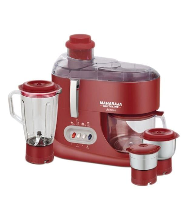 Maharaja Whiteline Ultimate (jx-101) Juicer Mixer Grinder (Red)