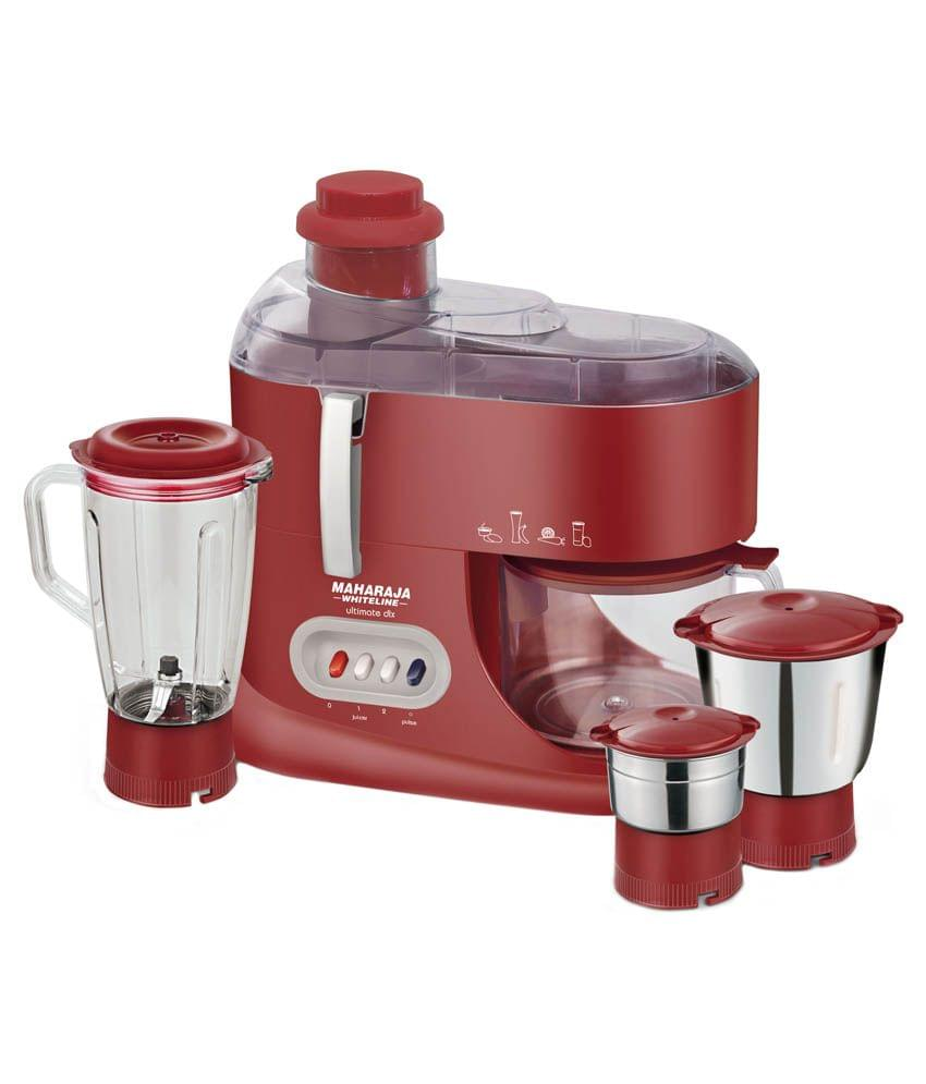 Maharaja Whiteline Ultimate DLX Juicer Mixer Grinder Red and Silver