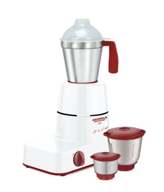 Maharaja Whiteline Solo Happiness Mixer Grinder-Red and White
