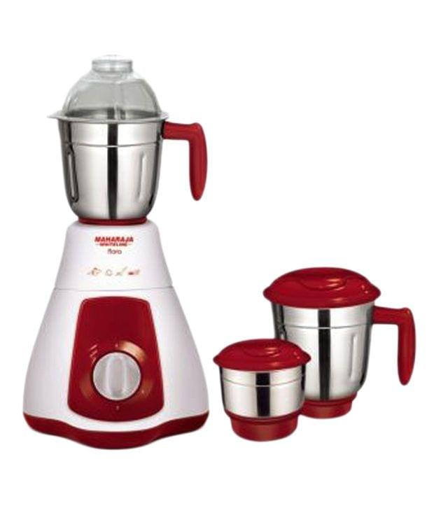 Maharaja Whiteline Flora (mx-133) Mixer Grinder Red And White