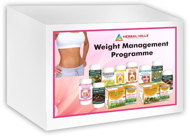 Weight Management Programme - 11 products (Wheat-O-Power Orange Flavour, Super Greenhills Orange Flavour, Detoxhills, Sennahills, Dudhi Power, Calmhills, Trimohills, Guggulhills, Digeshills, Arjunahills, Triphalahills)