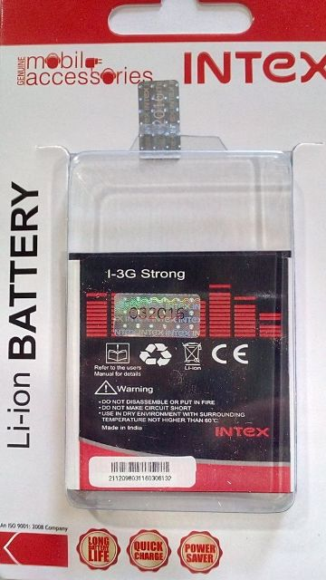 Intex Lithium Ion Battery 1400mah For 3g Strong