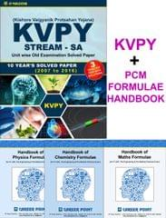 KVPY (Stream-SA) 10 Years Solved Paper (2007 to 2015) with 3 Practice Papers+ PCM Formulae (Set of 4 Books) (KVPY SA + PCM HandBook)
