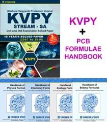 KVPY (Stream-SA) 10 Year Solved Papers (2007-2016) with 3 Practice Papers+ Handbook of PCB Formula (Set of 5 Books)