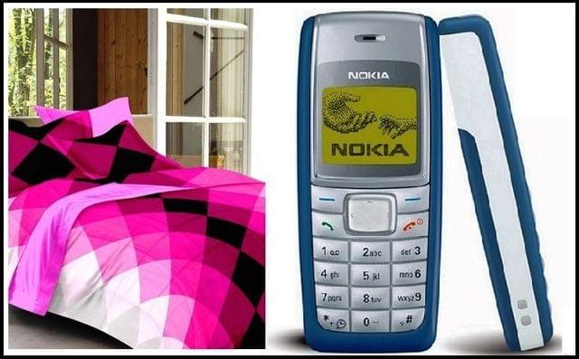 Bedsheets with nokia 1110i mobile