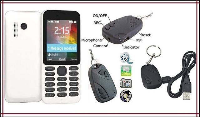 Combo Of Multimedia phone with spy keychain