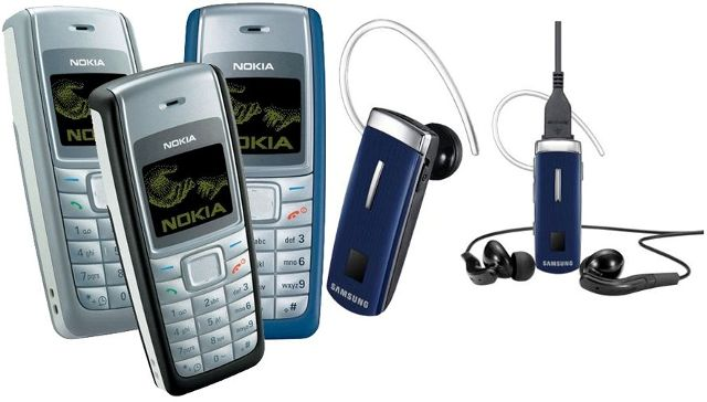 Nokia 1110i mobile with samsung bluetooth