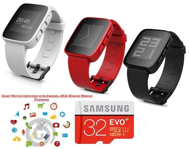 SMART WATCH WITH SAMSUNG 32 GB CARD