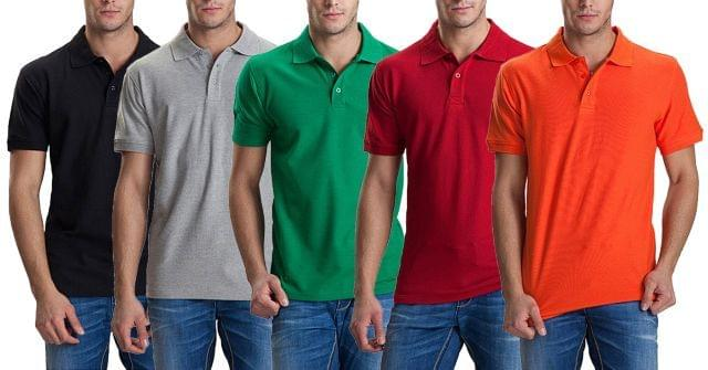 Combo Of 5 Paris polo color Tshirts