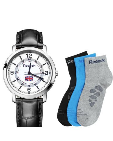 Branded watch with 3 pair Socks