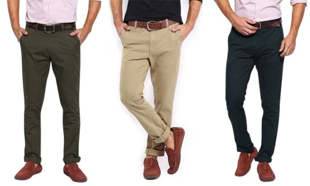 Combo Of 3 Chinos Trousers