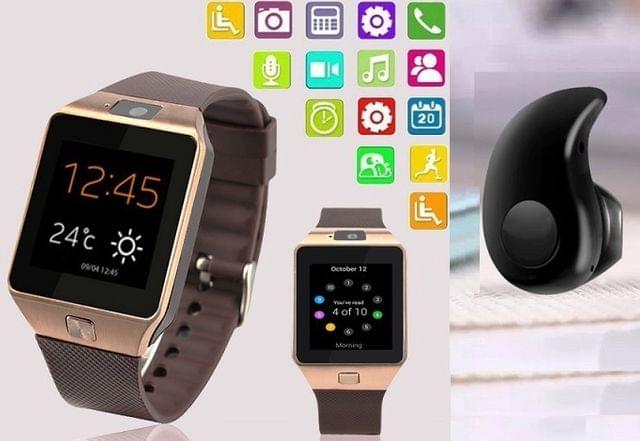 Wrab Sim Card and Memory cards Supported Smart Watch Android and IOS series With Mini  Bluetooth