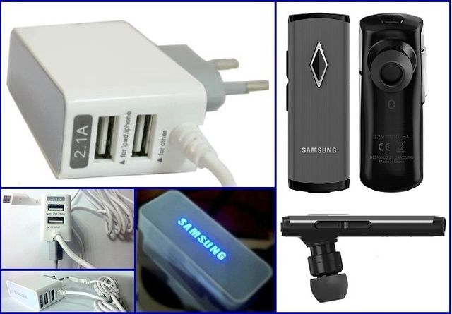 Samsung Wall charger Dual Port With Samsung Bluetooth