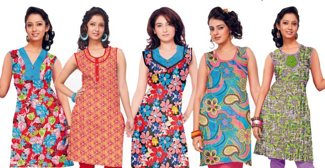 Stylish 5Pcs. Ladies Kurti Combo
