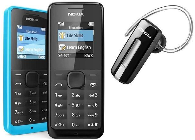 Nokia 105 With Branded Bluetooth