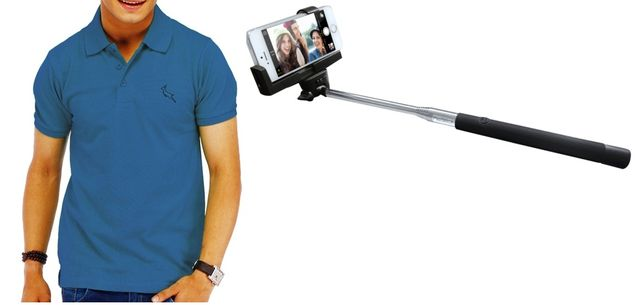 Best Fitted Polo T shirt & Bluetooth Selfie Stick