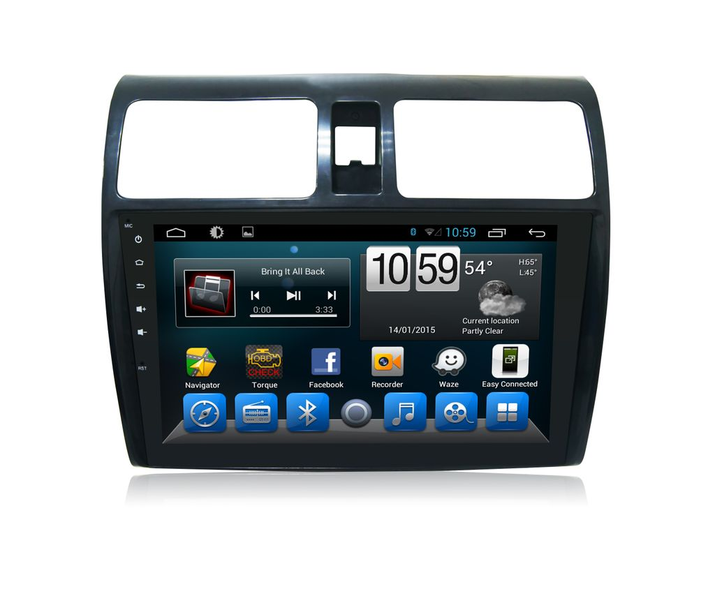 Maruti Swift - 10.1 inch Android Touch screen infotainment system with GPS Navigation, Wifi, etc..