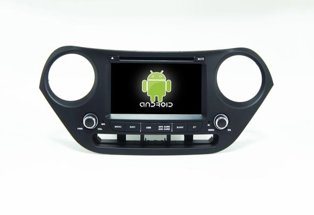 Hyundai i10 - 7 inch Android Touch screen infotainment system with DVD, GPS Navigation, etc...