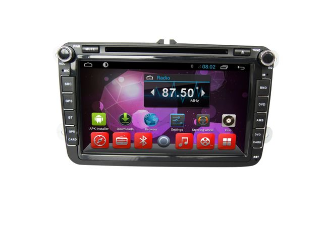 Volkswagen Polo - 8 inch Android Touch screen infotainment system with DVD, GPS Navigation, Wifi, etc...