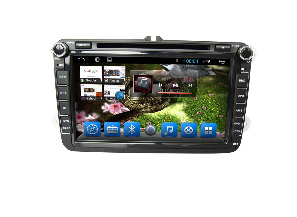 Volkswagen Passat - 8 inch Android Touch screen infotainment system with DVD, GPS Navigation, Wifi, etc...