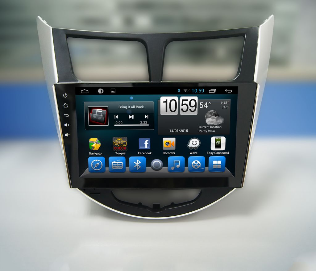 """Hyundai Verna/Accent - 9"""" Android Touch screen infotainment system with GPS Navigation, Wifi, etc.."""