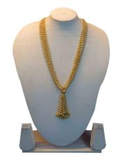 Adorable Golden And White Dangle Chain Set