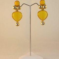 Stylish Yellow Drop Earrings