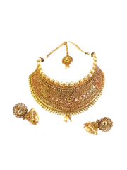 Maharani Style Antique Design Gold Plated Copper Finish Necklace