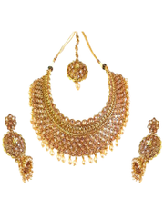 Royal Style Antique Design Gold Plated Necklace Set