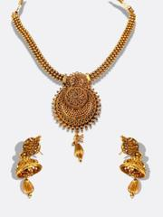 The Very Wonderful Long Chain With Antique Design Pendant Set