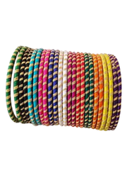 Beautiful Multi Color Silk Thread Bangle Set Each Pair