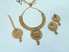 Exotic designer royal look pendant set