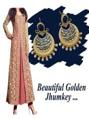 Stunning Royal golden jhumkey