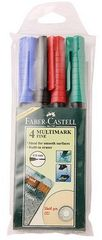Faber Castell Assorted OHP Markers (Pack of 4)