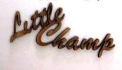 WE Letter Little Champs