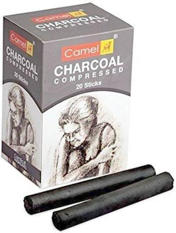 Camlin Compressed Charcoal Dark Stick  (Pack of 20)