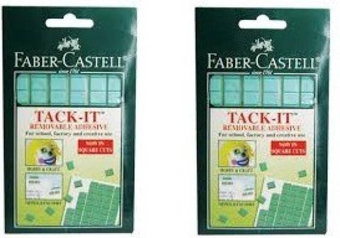 Faber-Castell Self Adhesive  (Set of 2, Green)