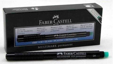 Faber-Castell Multimark S Permanent Permanent Marker  (Set of 10, Black)
