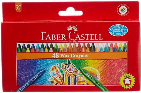 faber castell triangular Shaped wax Crayon  (multiple color)