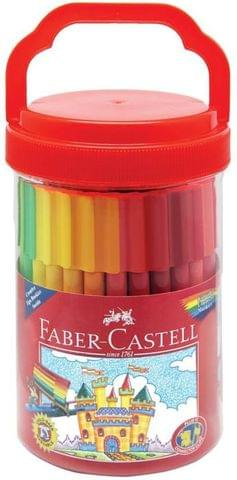Faber-Castell Connector Fine Nib Sketch Pens with Washable Ink  (Set of 1, Multicolour)