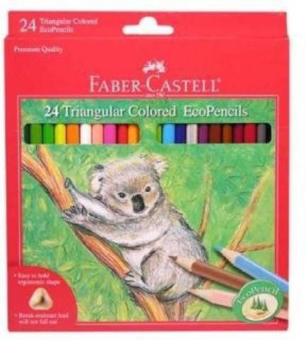 Faber Castell 24ct Triangular Colored EcoPencils