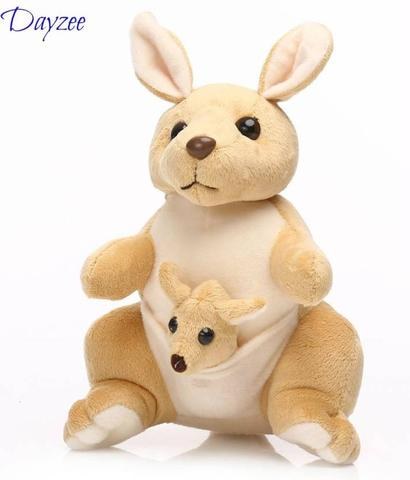 Dayzee Cute Beige And Cream Kangaroo With Baby In Pouch - 30 cm  (Beige, Cream
